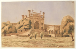 Gateway in the Hazuribagh, Lahore (Punjab). January 1849